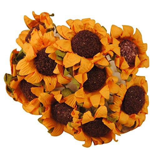 100x fiorellini fiore artificiali girasole x bomboniere decorazione fai da te materiale carta