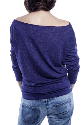 Ella Manue Frauen Roundneck Shirt Chloe Indigo