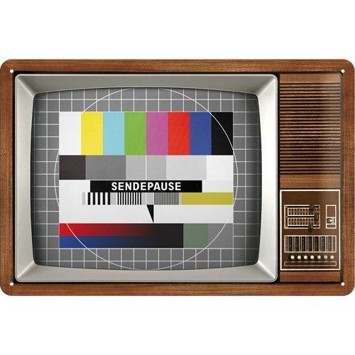 Nostalgic-Art 22196 Retro Wave - Retro TV, Blechschild 20x30 cm