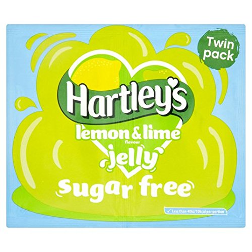 Sugar Free Lemon & Lime Jelly Cristaux de 23g de Hartley