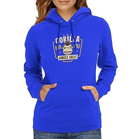 TEXLAB - Gorilla Jungle Rally - Damen Kapuzenpullover, Größe L, marine