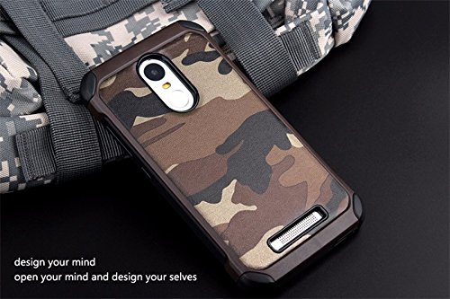 Excelsior Premium Military Style Back Cover Case For Xiaomi Redmi Note 3 - Brown