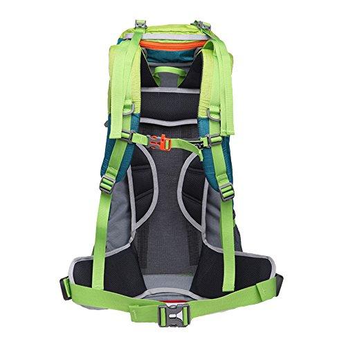 greeenlan Outdoor Sports Abfalltonne Wasserdicht Wandern Rucksack Klettern Bergsteigen Tasche Travel Trekking Rucksack mit Regen Cover Blau