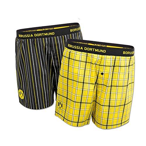 BVB 09 Borussia Dortmund Boxershorts 2er Pack Schwarz/Gelb