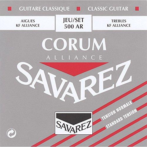 Savarez 500 AR Saiten für Klassikgitarre Alliance Corum 500AR Satz Standard Tension rot