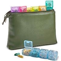 Preisvergleich für Pillen Travel Organizer–7-Tage pro Woche, Geldbörse (Reißverschluss und am PM 4mal Täglich eine Boxen für Pillen...