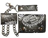 Jack Daniels Geldbeutel mit Kette Daniel's Old No.7 Brand Geldbörse Porte-Monnaie