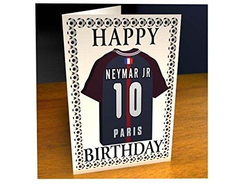 Carte d'anniversaire Ligue 1 Championnat françaisMotif: maillot de foot français, Homme Femme Enfant, - PARIS SAINT-GERMAIN FC