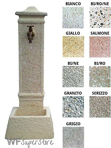 Fontana in pietra ricostruita parigi - fontanella esterno giardino (bianco)