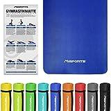 MSPORTS Gymnastikmatte Fitness | inkl. Übungsposter | 190 x 100 x 1,5 cm | Hautfreundlich - Phthalatfrei - Königsblau | sehr weich - extra dick | Yogamatte
