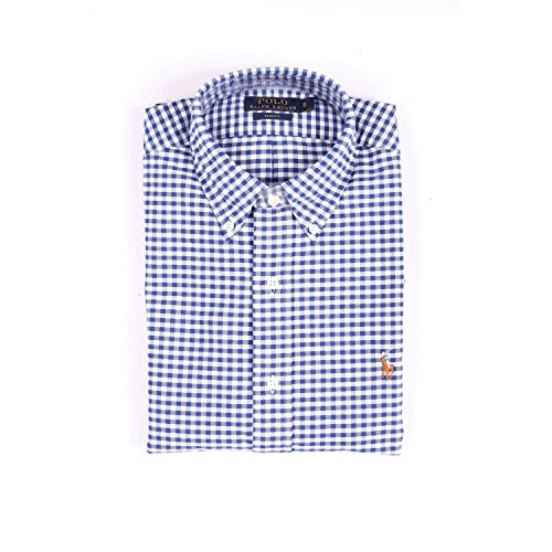 Polo Ralph Lauren Slim Ft BD Ppc Blue/White Gin, Chemise Casual Homme