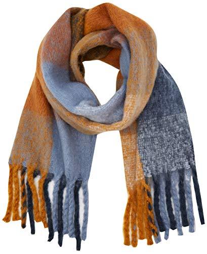 ICHI Damen A AGGE SC Schal, Blau (Country Blue 14095), Size (Herstellergröße: One)