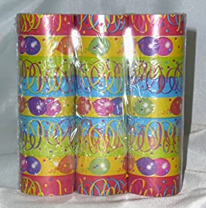 Amscan - 350229 - 3 serpentinas para fiesta party - 14 mm x 4 m