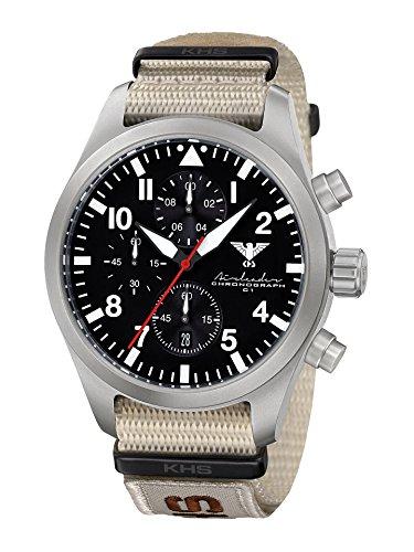 KHS Reloj para Hombre Analógico Cuarzo con Brazalete de Nylon KHS.AIRSC.NXTLT5