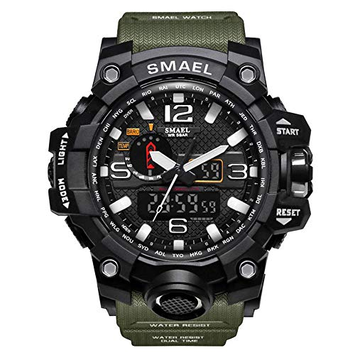 2d6e7ffbe Sports Watch Digital Wrist Watch Waterproof Mens Military Watches for Men  and Boys (Army Green