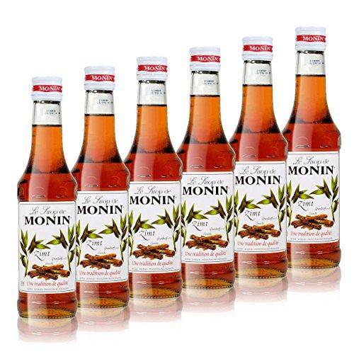 6x Monin Zimt Sirup, 250 ml Flasche