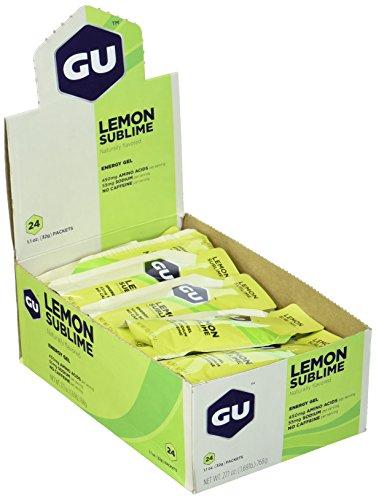 Lemon Gel (GU Energy Gel, Lemon Sublime (Zitrone), Box mit 24 x 32 g)