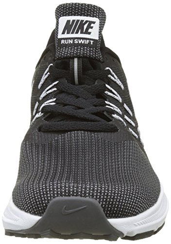 Nike Herren Run Swift Sneaker Schwarz (Black/white-dark Grey)