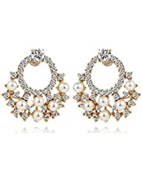 Young & Forever Tryst With Dimonte Pearl Stud Earrings For Women By CrazeeMania