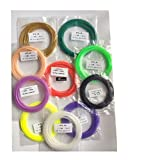 #4: Techie (10-in-1) 1.75mm PCS PLA Filament 5m Roll for 3D Printing Pen Material (Multicolor)