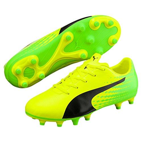Puma Unisex-Kinder Evospeed 17.5 FG Jr Fußballschuhe Gelb (Safety Yellow Black-Green Gecko 01), 38 EU