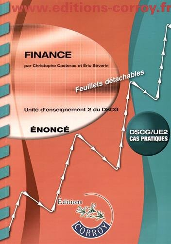Finance UE 2 du DSCG : Enonc