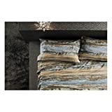 Bassetti Shine Collection.- Duvet cover set Myst V2 Queen Size (4 pieces) in