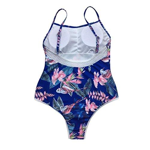 Tpulling Maillot de Bain Femme 1 Pieces ❤ Femme Straps Bikini Set Push-Up Rembourré Maillots de Bain Sportswear Dark Blue