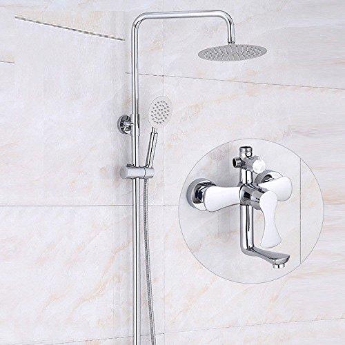 NewBorn Faucet Wasserhähne Warmes und Kaltes Wasser große Qualität Dusche Chrom Duschkopf Dusche Spülen Den Sand und Rohrverbindungsstücke (Dusche Timer Sand)