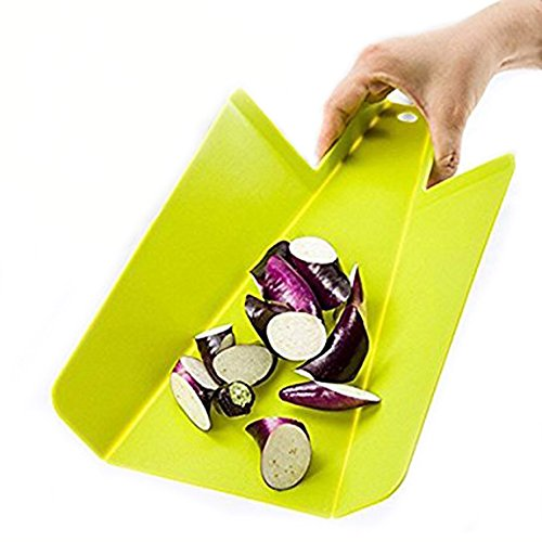 buybox Qualität Lebensmittelqualität PP faltbar Schneidebrett (Set von 2, grün & Lime)