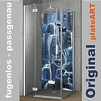 original plateart rckwand dusche alu ohne fugen eck duschrckwand einzelplatte fliesenspiegel fliesenersatz motiv - Aluminium Ruckwand Dusche 2