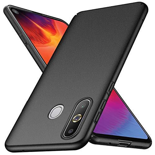 Arkour für Galaxy A8S Hülle, Minimalistisch Ultradünne Leichte Slim Fit Handyhülle mit Rutschfest Matte Oberfläche Hard Case für Samsung Galaxy A8S (Kies Schwarz)