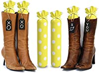 My Boot Trees Boot Shaper stands polkadots 15 Inches tall Yellow with White Polkadots