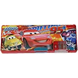 Parteet® Cratoon Printed Dual Side Magnetic Pencil Box For Kids(Car)