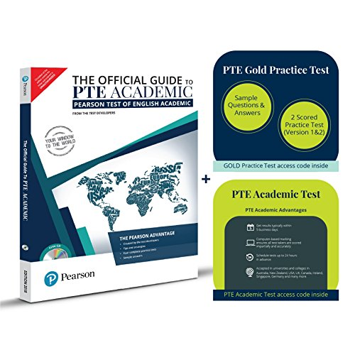 Pearson Education Super Saver PTE Academic Combo: The Official Guide + Gold Practice Test + Test Voucher (Activation Key Card)