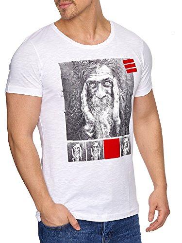 TAZZIO Herren Rundkragen T-Shirt 17107 Weiß