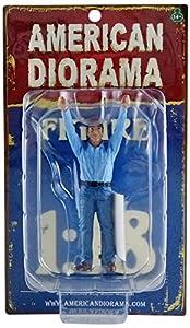 American Diorama-77428-Figura Crew Holding Reflector-Escala 1/18-Azul/Negro