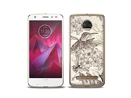 etuo Motorola Moto Z2 Force - Hülle Fantastic Case - Kolibri - Handyhülle Schutzhülle Etui Case Cover Tasche für Handy