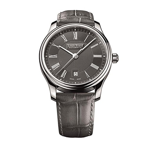 LOUIS ERARD MEN'S GREY LEATHER BAND STEEL CASE AUTOMATIC WATCH 69266AA23.BDC83