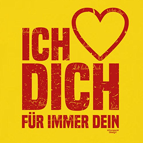 Soreso Design Fimo Armband & Kissen: Ich Liebe Dich Schmuck Geschenk Weihnachten Frauen Freundin romantisch Farbe: gelb