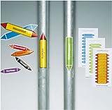 2578. Rohrleitungskennzeichnung / Pfeilschild Gruppe 3 Luft (grau) in verschiedenen Versionen Weich-PVC-Folie, selbstklebend, bedruckt Größe 22,30 cm x 3,70 cm