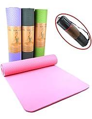 Yogamatte, SGS geprüft, umweltfreundliche TPE Yogamatte, Pilatesmatte, Gymnastikmatte inkl. Tasche, hypoallergen, hautfreundlich und rutschfest