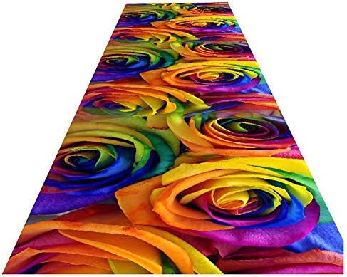 ZEMIN Passatoia Corridoio Resistenti allo Sbiadimento Durevole Tappeto Facile Costume da Pulire, 2 Coloreei, Multi-Dimensione Costume Facile (Coloreee   A, Dimensioni   1.4x1m) 9e2295