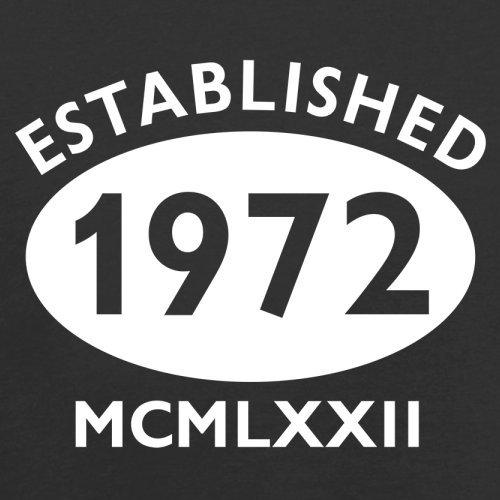 Gegründet 1972 Römische Ziffern - 45 Geburtstag - Herren T-Shirt - 13 Farben Schwarz