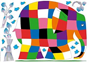 Jomoval plage giant elmer wall mural for Plage stickers uk