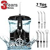 Munddusche Elektrische,Dental Oral Irrigator Munddusche mit 7 funktionale Jet-Düsen,600ml Wassertank, 10 einstellbaren Druckeinstellung Familie Wasser Flosser für Zähne,FDA CE Zertifiziert