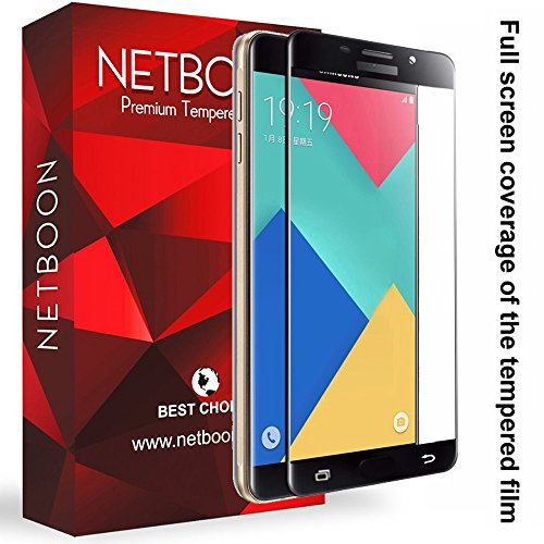 NETBOON® Original Samsung A9/Samsung A9 Pro Tempered Glass Screen Protector Glass Guard Full Edge to Edge Cover for Samsung Galaxy A9 Pro – Black