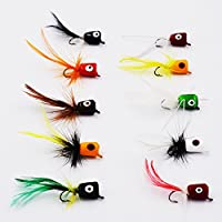 Flyafish Bass Popper Dry Fly Fishing Lure Kit Panfish Bait (color1)