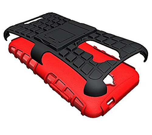 Heartly Flip Kick Stand Spider Hard Dual Rugged Shock Proof Tough Hybrid Armor Bumper Back Case Cover For Coolpad Note 3 Lite 5 Inch – Hot Red