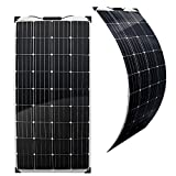 GreenAkku Semi Flex Solarmodul 150 Watt Monokristallin Photovoltaik 12V Solarpanel optimal für Wohnmobil, Gartenhaus oder Boot
